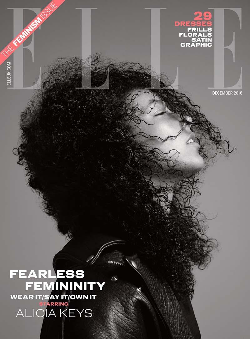 Alicia Keys en couverture du magazine ELLE UK - Décembre 2016