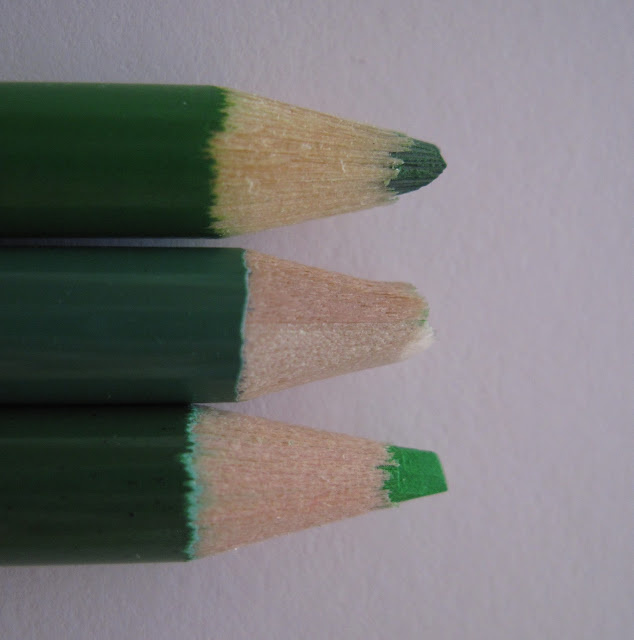 Colored pencil tests.