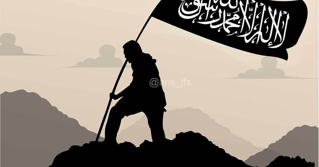 Gambar Orang Kartun Pegang Bendera