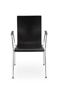 Scaun vizitator conferinte Cadeira 4L-Arm Plus fata negru