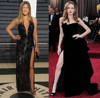 Jennifer Aniston's Oscars Dress Was Once Sported By Jennifer Lopez, Plus Many More Thigh-High Slits From the 'Vanity Fair' After-Party