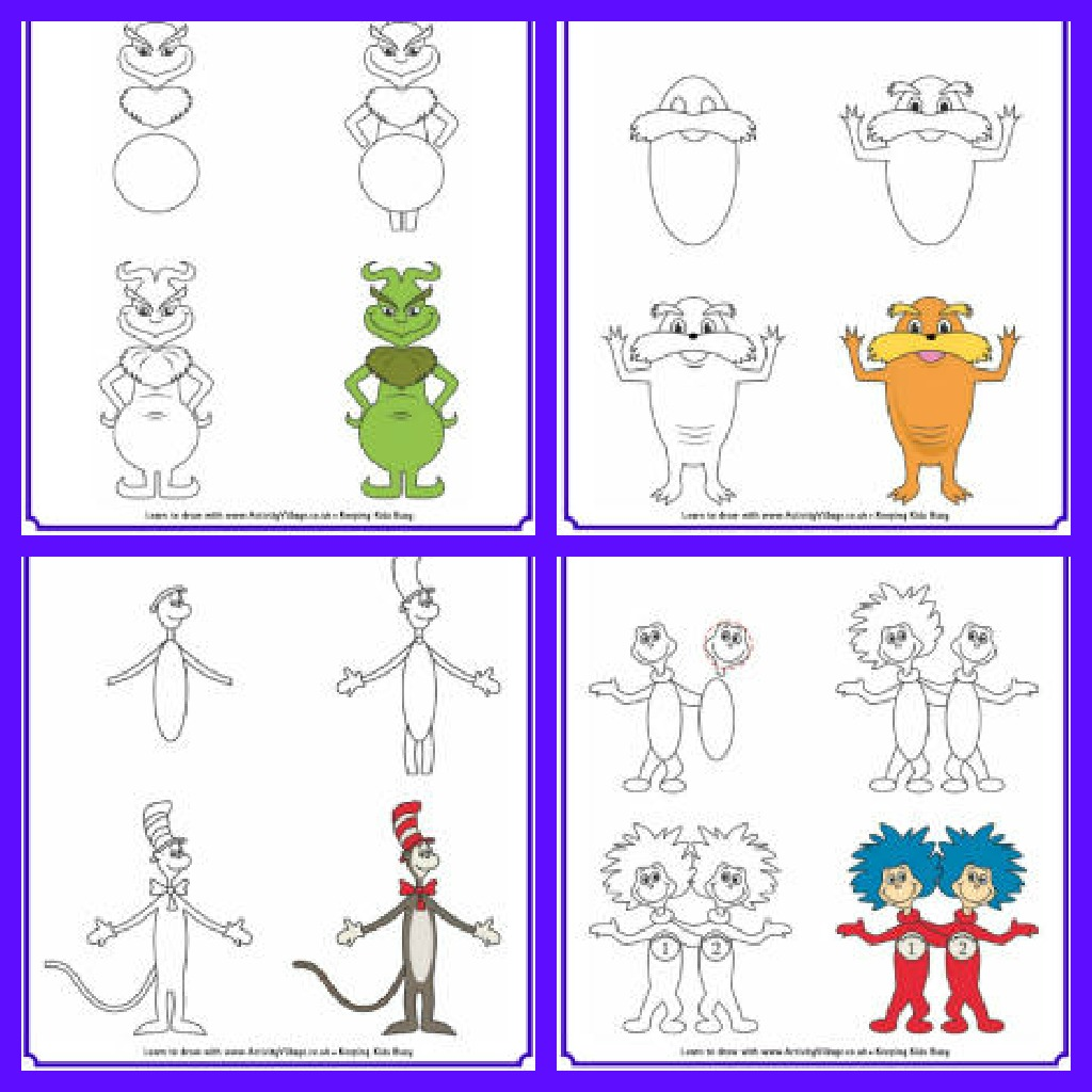 Steps Drawing Cat And Hat
