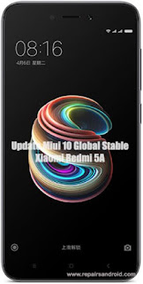 Update Xiaomi Redmi 5A Ke Miui 10 Global Stable Rom