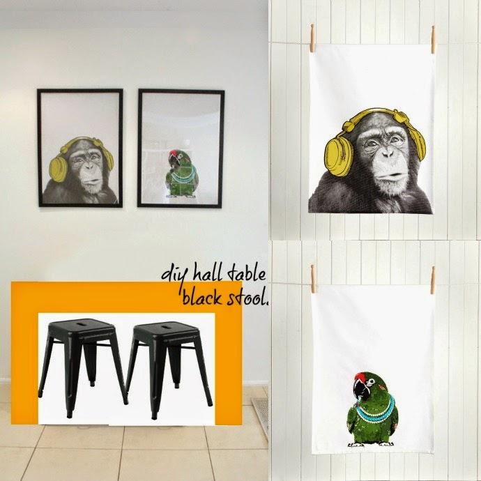 diy tea towel wall art the llh home makeover life love and