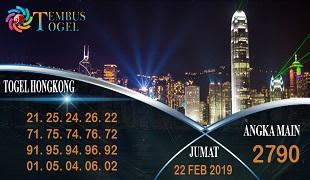 Prediksi Angka Togel Hongkong Jumat 22 Februari 2019