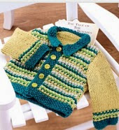 http://www.letsknit.co.uk/free-knitting-patterns/vintage_baby_cardigan_and_bootee_set