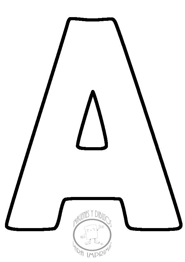 Abecedario para imprimir letra por letra | Imagenes y dibujos para ...