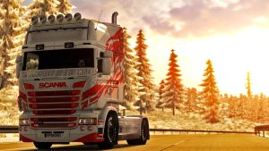 Red'n' White paint job for Scania RJL