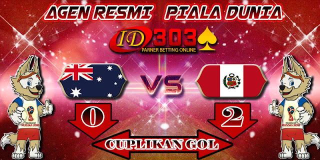 CUPLIKAN GOL AUSTRALIA 0 - 2 PERU