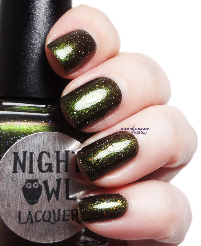 xoxoJen's swatch of Night Owl May The Forest Be With You