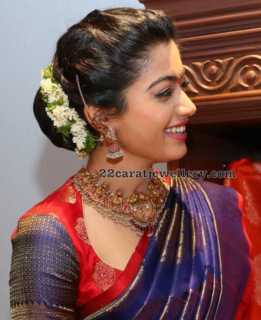 Rashmika Mandanna Wearing Kalasha Fine Jewels