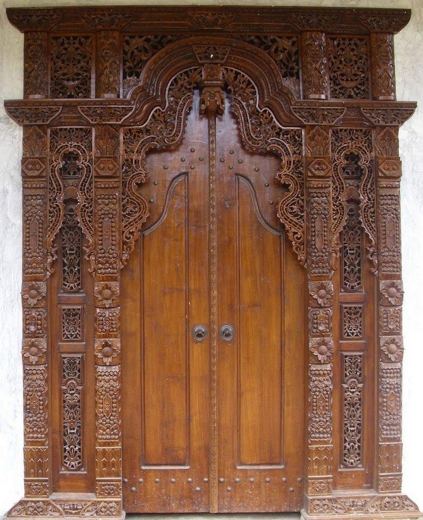 pintu kupu tarung ukiran jepara 3