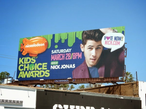 Nickelodean Kids Choice Awards Nick Jonas billboard