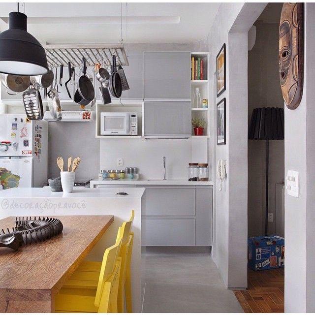 Artesanato Tecido Em Vidro ~ 10 Cozinhas cinza! Jeito de Casa Blog de Decoraç u00e3o e Arquitetura
