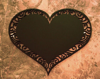 heart-shaped board