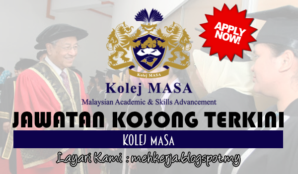 Jawatan Kosong Terkini 2017 di Kolej MASA