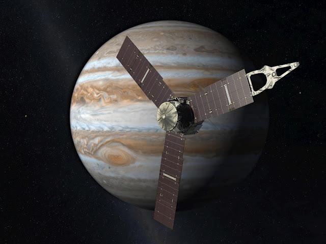 Juno aproximando-se de Júpiter - MichellHilton.com