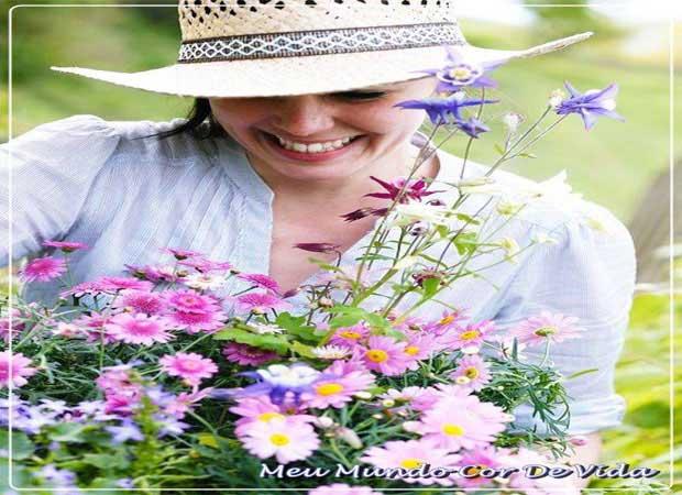 colhendo flores