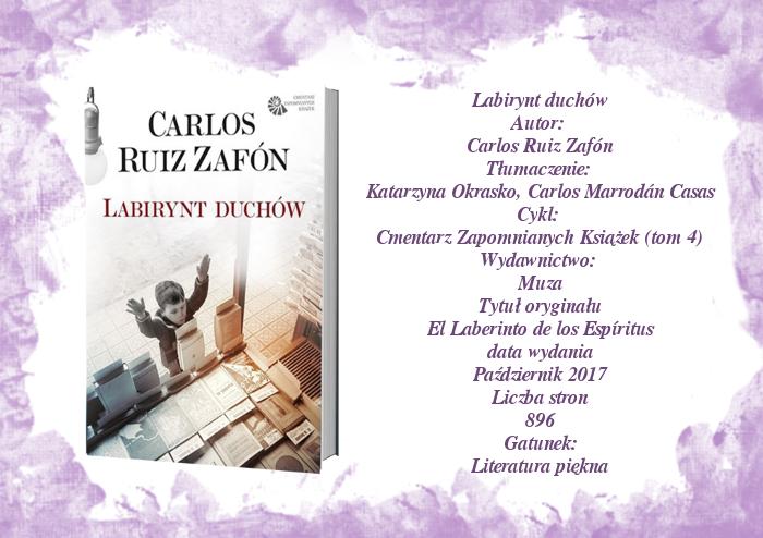 Labirynt duchów  Carlos Ruiz Zafón
