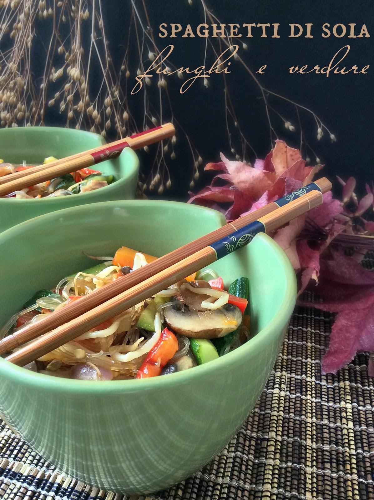 ricette con spaghetti di soia