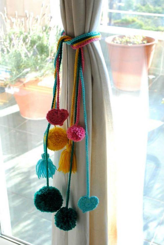 8 ideas para hacer sujeta cortinas decorativos para el - Cortinas de cadenas ...
