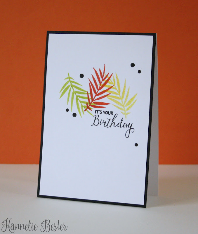 birthday card in Autumn colors