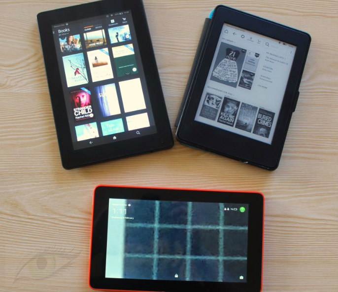 how to get books to show up in kindle fire