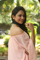 Rakul Preet Singh in lovely Pink Crop Top and Black Trousers at Jaya Janaki Nayaka success meet 030.JPG