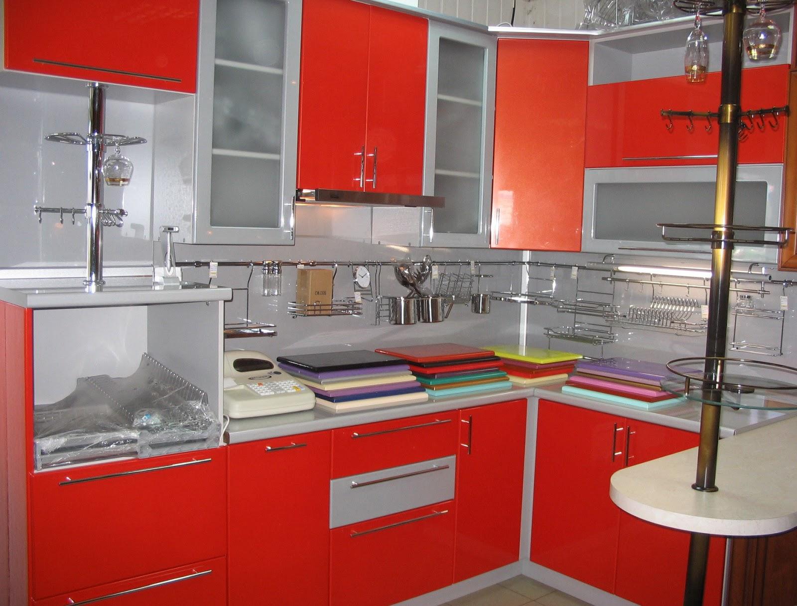 21 Desain Kitchen Sets Merah Rumah Minimalis