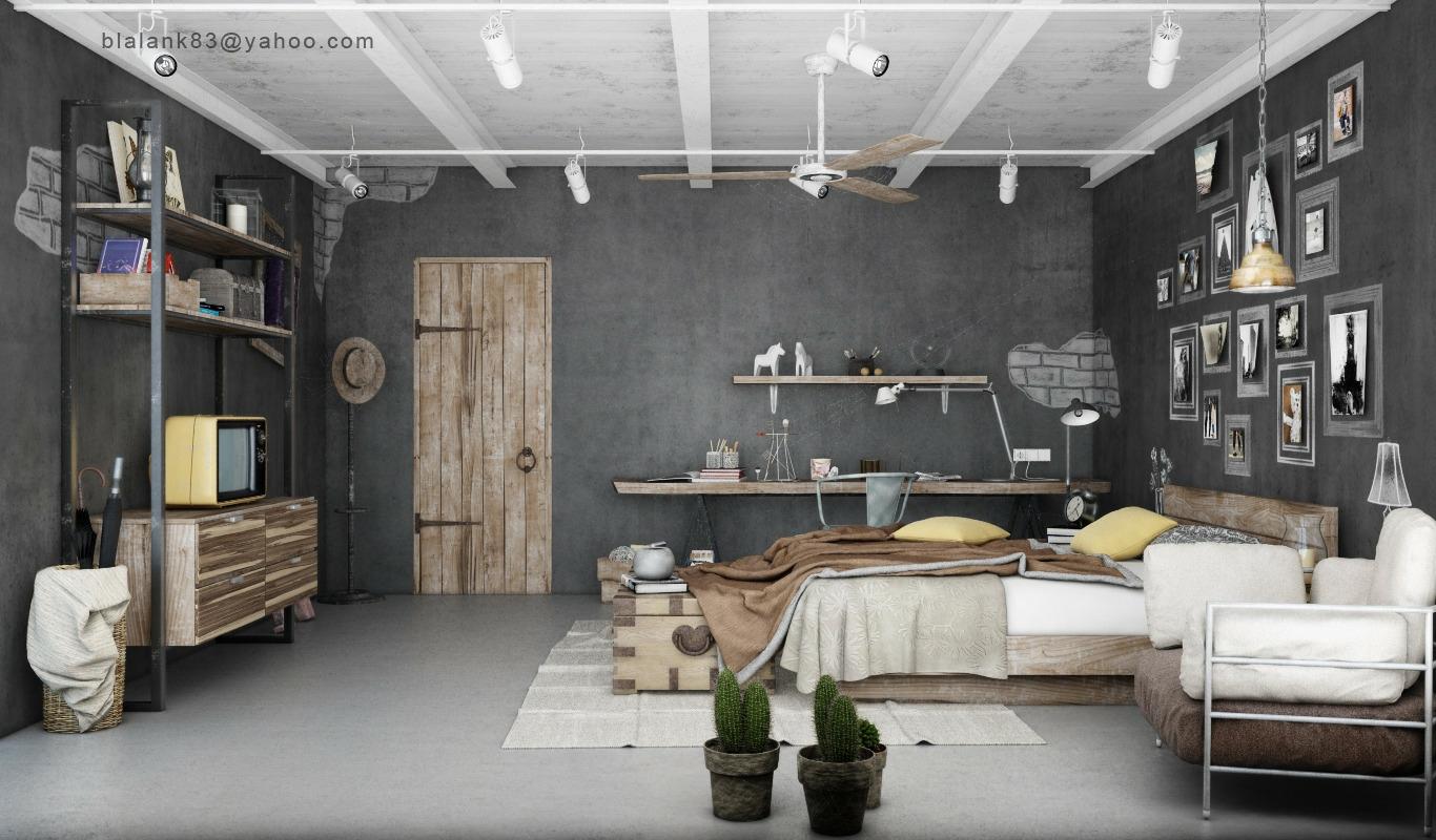 1 industrial bedrooms interior design