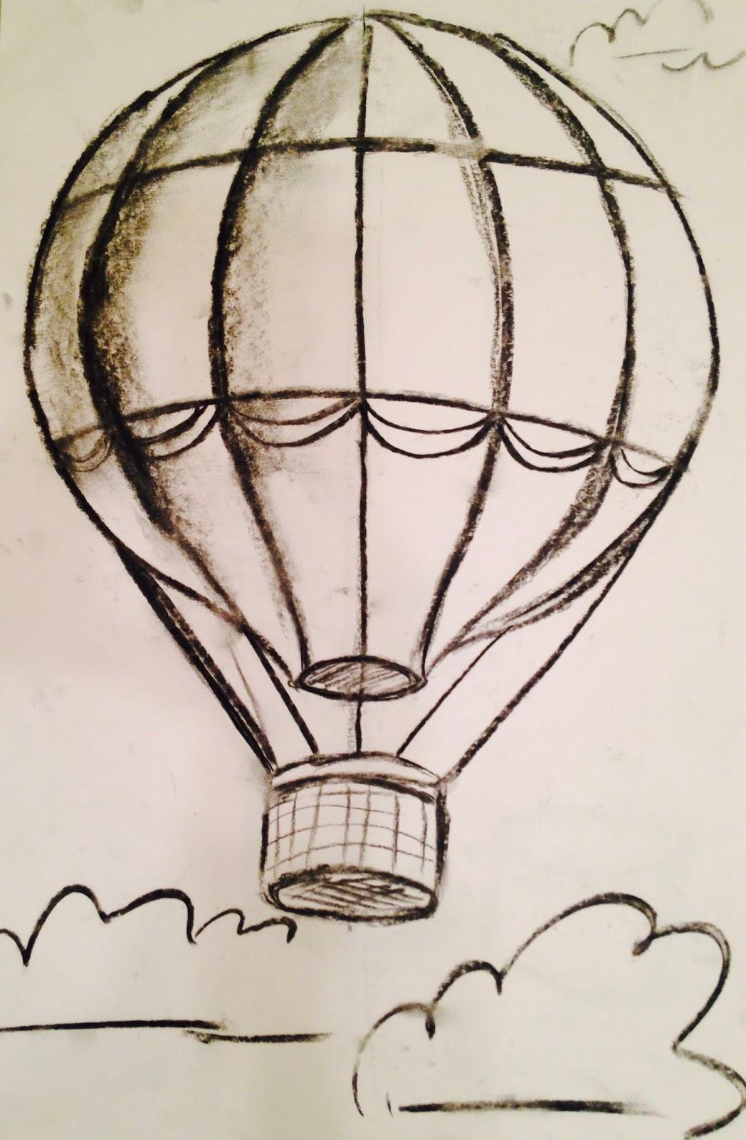 hot air balloon drawing wwwimgkidcom the image kid