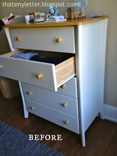 nursery dresser before