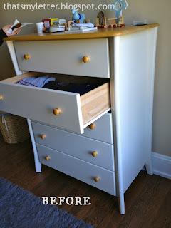 nursery dresser before