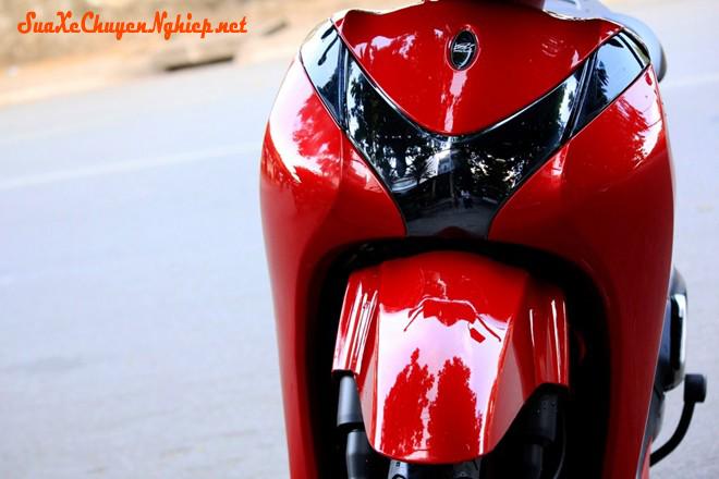 Sơn xe Honda Sh Mode màu đỏ bóng