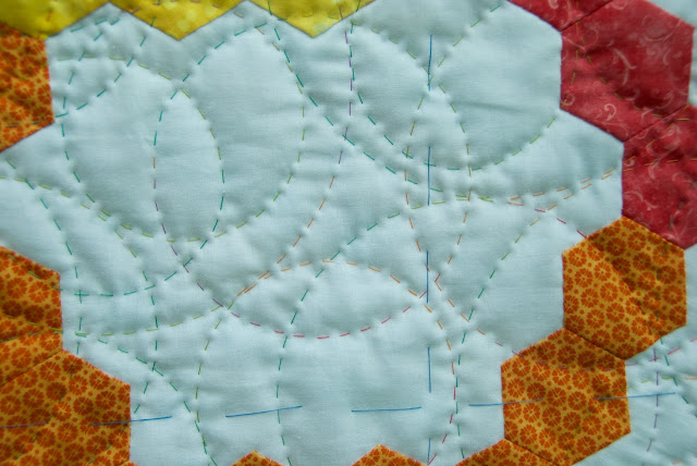 hand quilting bubbles