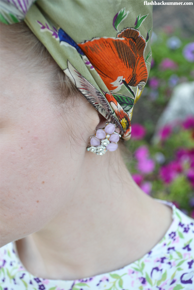 Flashback Summer: Rescued Rayon - vintage 1950s earrings