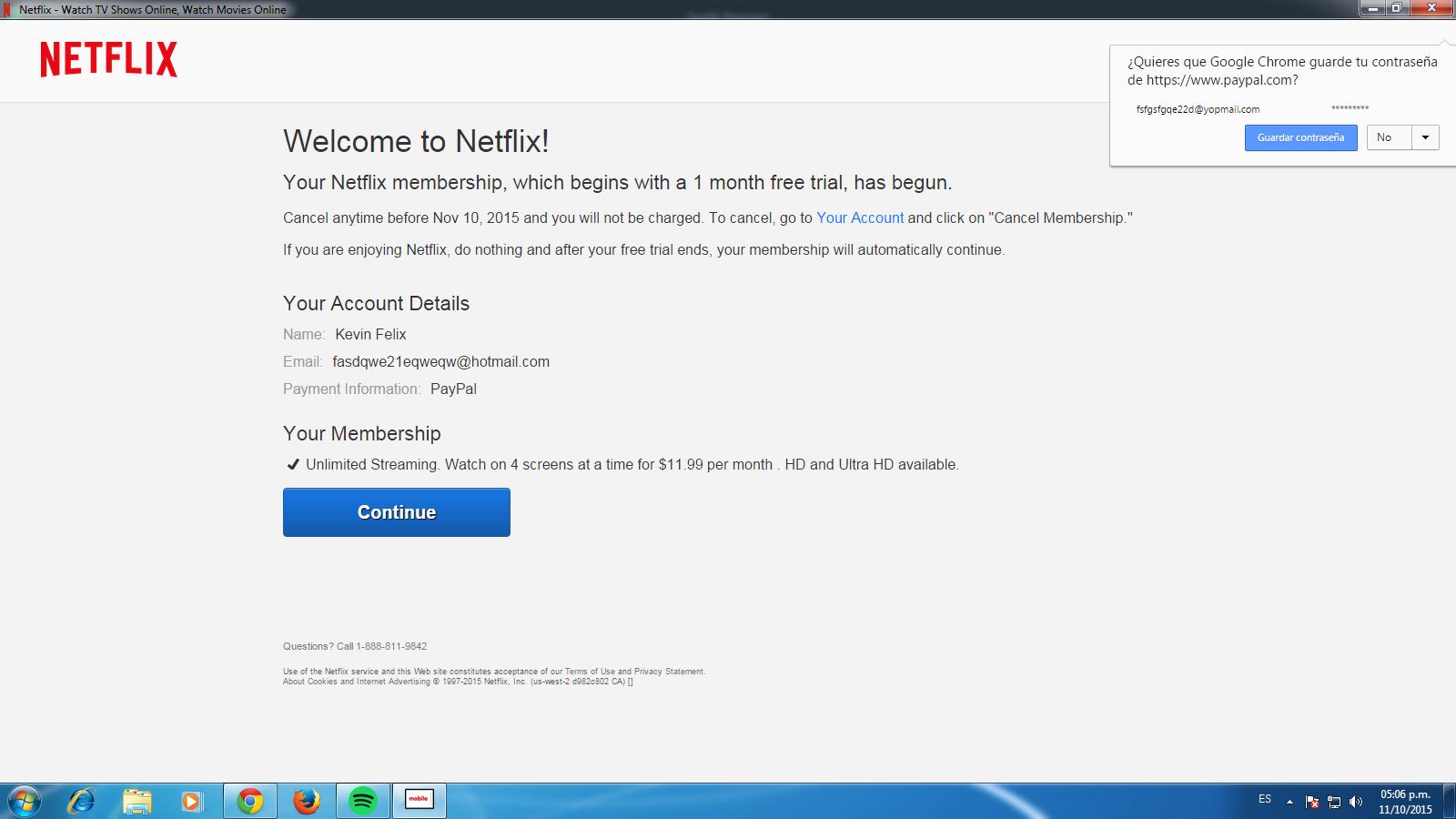 Kevin Piazzoli: Create una cuenta de Netflix IP Canada Octubre 2015