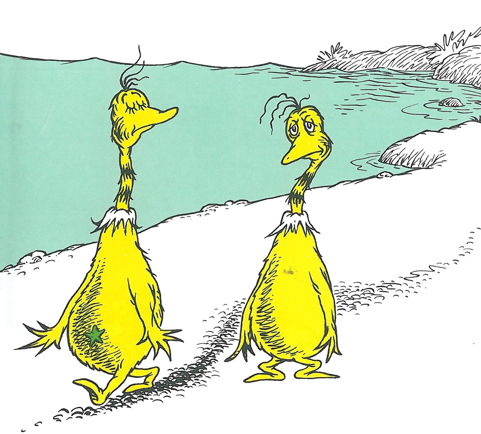 sneetches on beaches coloring pages - photo#14