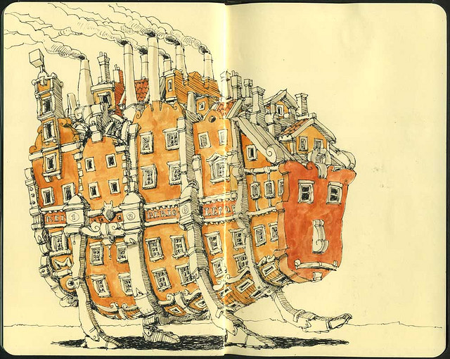 23-Thoughtful-Mattias-Adolfsson-Surreal-Architectural-Moleskine-Drawings-www-designstack-co