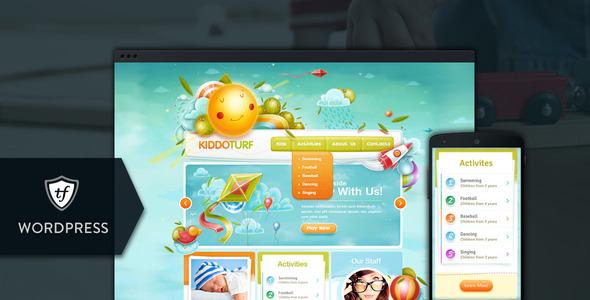 KiddoTurf Wordpress Çocuk Teması