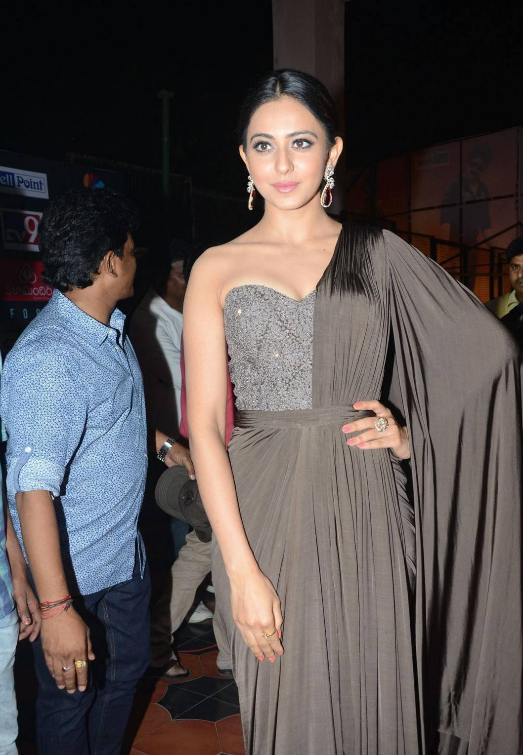 Rakul Preet Singh Hot Photos In Long Black Gown At Birthday Celebrations