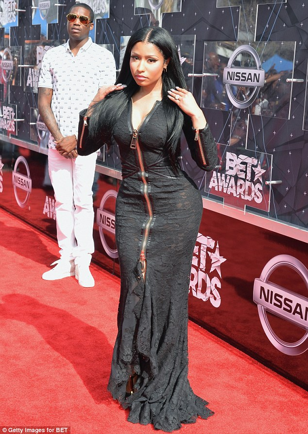 Nicki Minaj put curves on display at the 2015 BET Awards in LA