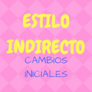 ESTILO INDIRECTO. Cambios iniciales: verbo introductor, pronombres, adverbios de tiempo...