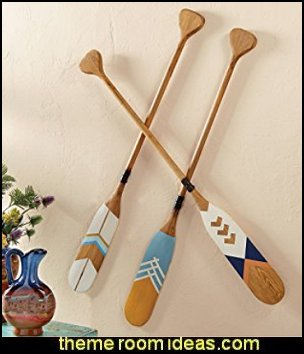 Wood Decorative Canoe Paddles   Cabin decor - bear decor - camping in the northwoods style - Antler decor - log cabin boys theme bedroom - Cabin Bedding