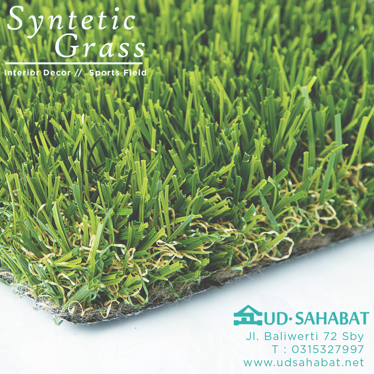 rumput palsu buatan ud sahabat baliwerti surabaya
