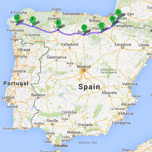 Camino Walk Spain Map.Answering Your Questions About Walking Spain S Camino De Santiago