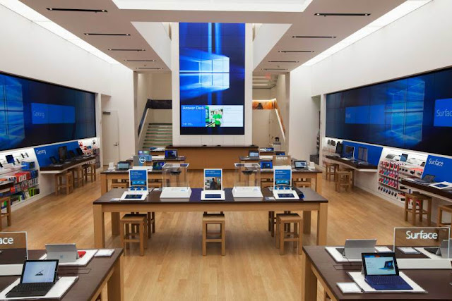 Por dentro do flagship store da Microsoft