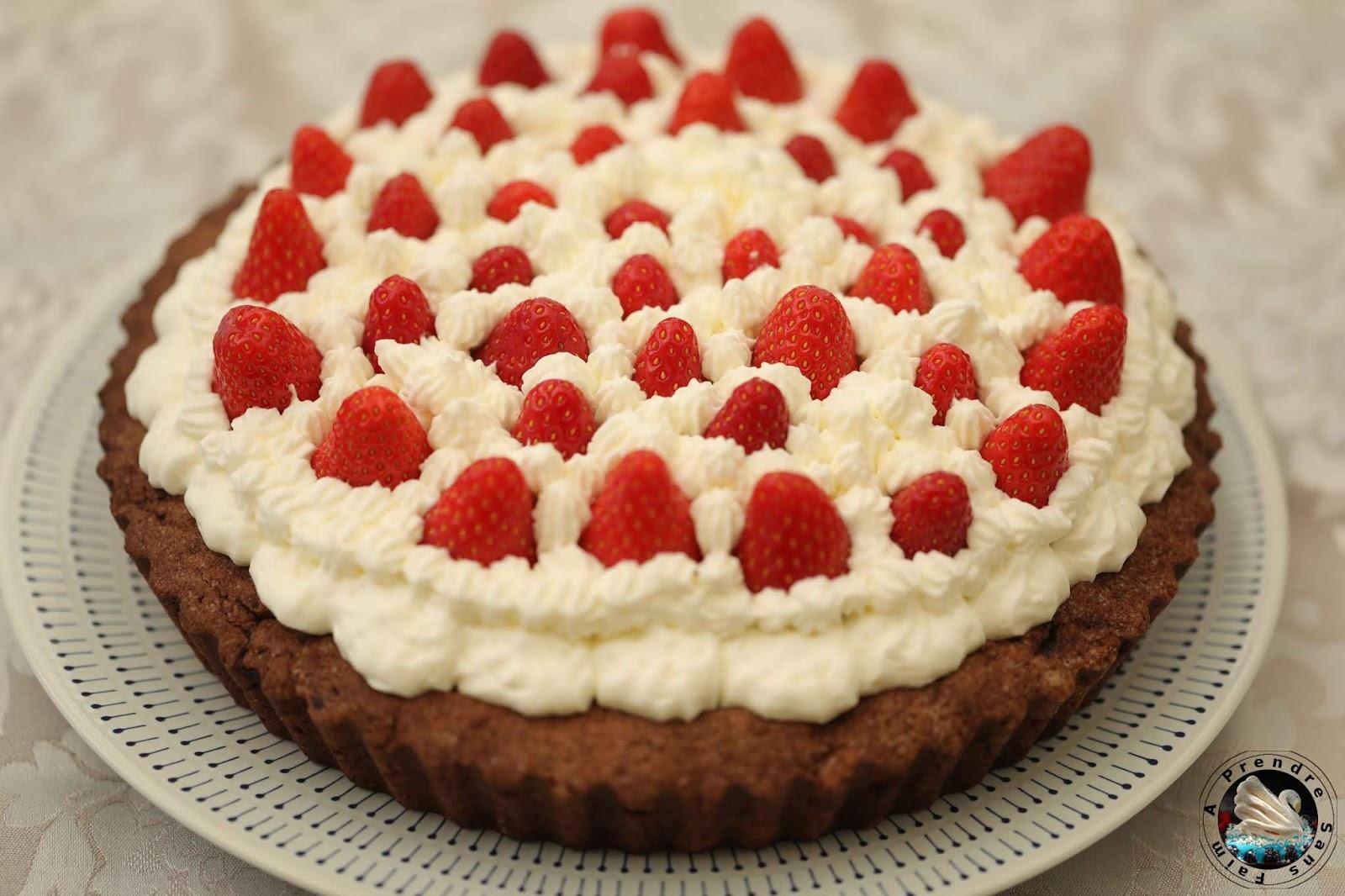 Flan portugais fraises chocolat