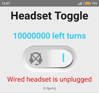Pernah ga sih handphone android kau bermasalah dimana masalahnya itu simbol headset di an Mod Headset Toggle Pro Full Version - Atasi Simbol Headset Muncul Terus di Android!!
