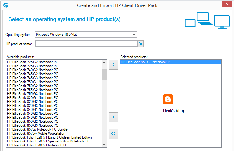 Henk's blog: HP Client Integration Kit for ConfigMgr 2012 R2